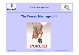 Forced Marriage Unit The Forced Marriage Unit