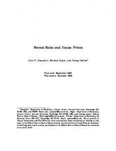 Forced Sales and House Prices