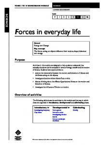 Forces in everyday life