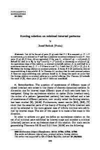 Forcing relation on minimal interval patterns