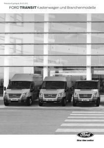 Ford TRANSIT Kastenwagen und Branchenmodelle