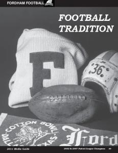 FORDHAM FOOTBALL FOOTBALL TRADITION