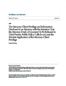 Fordham Law Review. Daniel Northrop. Volume 78 Issue 3 Article 14. Recommended Citation