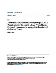 Fordham Law Review. Margery I. Miller. Volume 72 Issue 6 Article 9. Recommended Citation