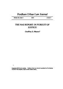 Fordham Urban Law Journal