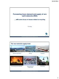 Forecasting future demand and supply of rare earth elements (REE)