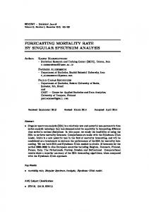 FORECASTING MORTALITY RATE BY SINGULAR SPECTRUM ANALYSIS