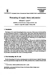 Forecasting oil supply: theory and practice