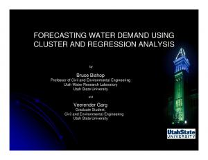 FORECASTING WATER DEMAND USING CLUSTER AND REGRESSION ANALYSIS