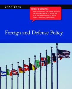Foreign and Defense Policy