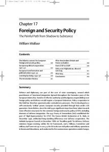 Foreign and Security Policy
