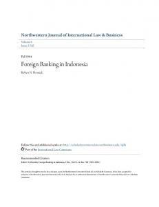 Foreign Banking in Indonesia