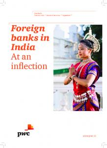 Foreign banks in India At an inflection