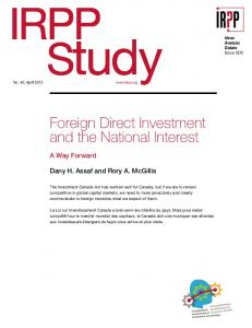 Foreign Direct Investment and the National Interest