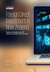 Foreign Direct Investment in New Zealand