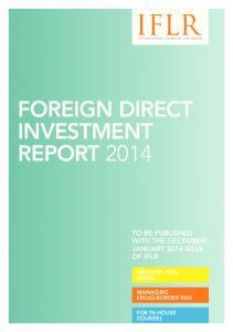 FOREIGN DIRECT INVESTMENT REPORT 2014