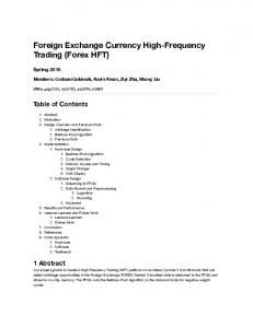 Foreign Exchange Currency High-Frequency Trading (Forex HFT)