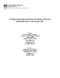 Foreign Exchange Volatility and Stock Returns
