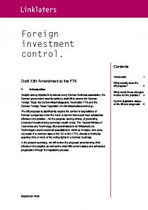 Foreign investment control