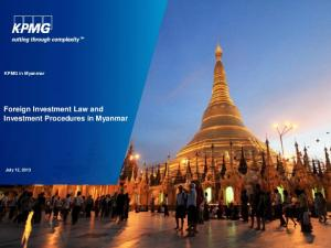 Foreign Investment Law and Investment Procedures in Myanmar