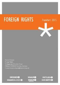 FOREIGN RIGHTS Frankfurt 2015
