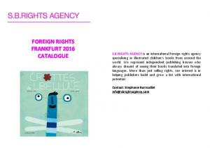 FOREIGN RIGHTS FRANKFURT 2016 CATALOGUE