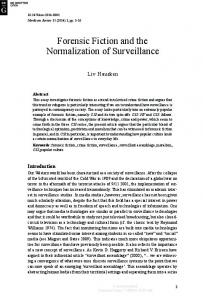 Forensic Fiction and the Normalization of Surveillance