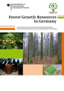 Forest Genetic Resources in Germany