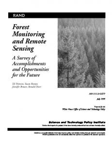Forest Monitoring and Remote Sensing
