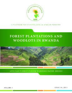 FOREST PLANTATIONS AND WOODLOTS IN RWANDA