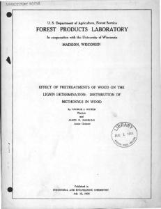 FOREST PRODUCTS LABORATOR Y