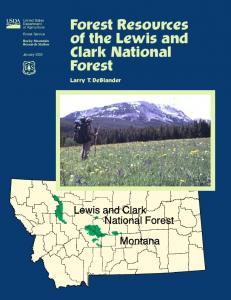 Forest Resources of the Lewis and Clark National Forest