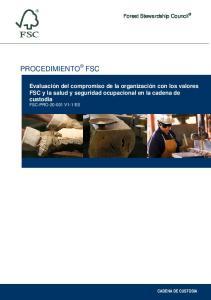 Forest Stewardship Council PROCEDIMIENTO FSC