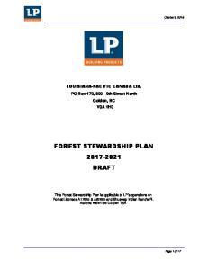 FOREST STEWARDSHIP PLAN DRAFT