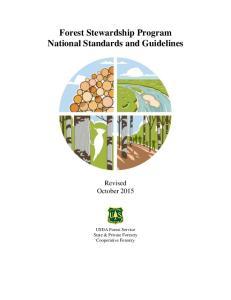 Forest Stewardship Program National Standards and Guidelines