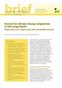 Forests for climate change adaptation in the congo basin