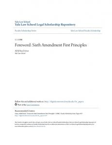 Foreword: Sixth Amendment First Principles