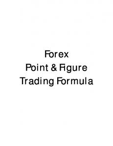 Forex Point & Figure Trading Formula