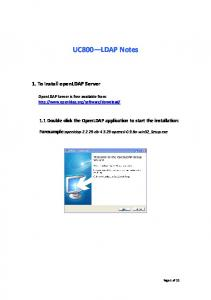 Forexample:openldap db openssl 0.9.8a win32_setup.exe