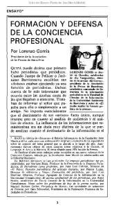 FORMACION Y DEFENSA DE LA CONCIENCIA PROFESIONAL