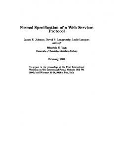 Formal Specification of a Web Services Protocol