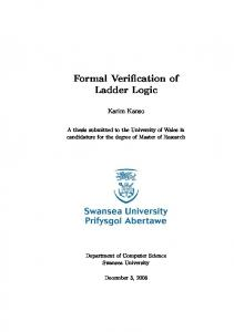 Formal Verification of Ladder Logic