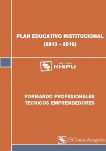 FORMANDO PROFESIONALES TECNICOS EMPRENDEDORES
