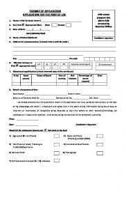 FORMAT OF APPLICATION APPLICATION FOR THE POST OF LDC