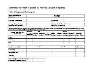 FORMATO DE PROPUESTA DE NEGOCIO DEL PROYECTO ACTIVOS Y CONEXIONES