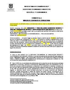 FORMATO No 5 MINUTA DE CONTRATO DE CONSULTORIA