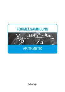 FORMELSAMMLUNG ARITHMETIK. by Marcel Laube