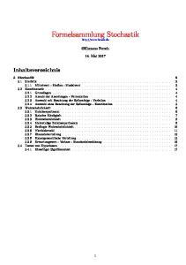 Formelsammlung Stochastik