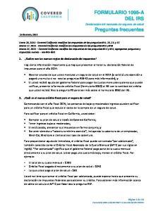FORMULARIO 1095-A DEL IRS