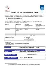 FORMULARIO DE PROPUESTA DE CURSO